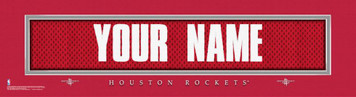 NBA Huston Rockets Official Personalized League Jersey Stitch Print Black Framed