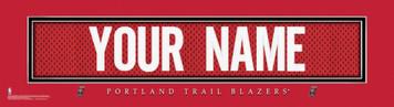 NBA Portland Trail Blazers Official Personalize Jersey Stitch Print Black Framed