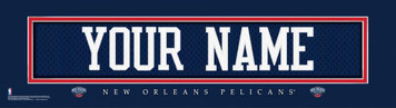 NBA New Orleans Pelicans Official Personalized League Jersey Stitch Print Framed