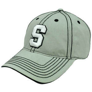 NCAA Michigan State Spartans Platinum Clean Up Velcro Adjustable Hat Cap Curved