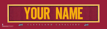 NBA Cleveland Cavaliers Official Personalized League Jersey Stitch Print Framed