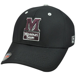 HAT CAP MISSOURI STATE MSU BLACK MAROON BEARS FLEX FIT LICENSED PRO GAME NCAA