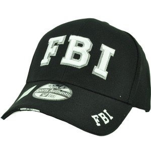 FBI Law Enforcement Federal Bureau Investigation Hat Cap Black Adjustable Acrylic
