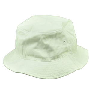 American Needle Blank Plain White Bucket Hat Sun Fitted Small Medium Crusher