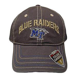 NCAA OFFICIAL ESPN TENNESSEE BLUE RAIDERS GREY CAP ADJ