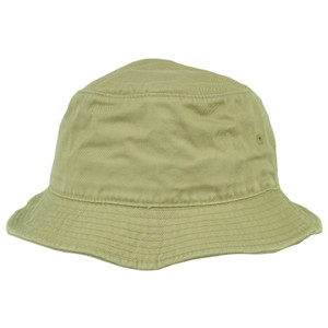 American Needle Blank Plain Khaki Bucket Hat Sun Fitted Small Medium Crusher