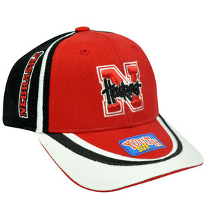 NCAA Nebraska Corn Huskers Youth Kids Child Red White Black Velcro Constructed
