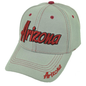 Arizona Grand Canyon State Gray Burgundy USA AZ Adjustable Hat Cap Curved Bill