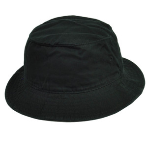 American Needle Blank Plain Black Bucket Hat Sun Fitted Small Medium Crusher