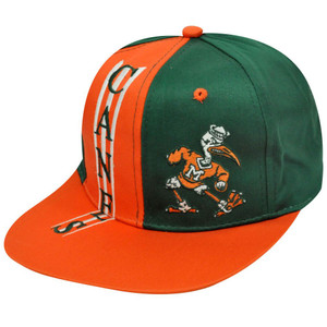 NCAA MIAMI HURRICANES SNAPBACK OLD SCHOOL FLAT BILL HAT