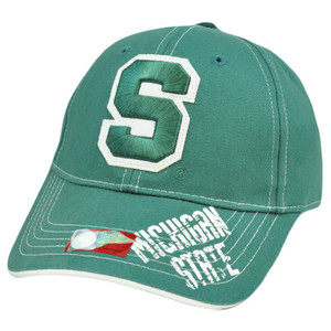 NCAA Michigan State Spartans Cotton Adjustable Licensed Curved Bill Hat Cap