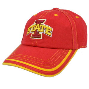 NCAA Platinum Garment wash Hat Cap Curved Iowa State Cyclones Slouch Adjustable