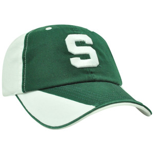 NCAA Michigan State Spartans Flip Green Sun Buckle Garment Wash Relaxed Hat Cap