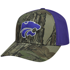 NCAA Kansas State Wildcats Freshman Camouflage Adjustable Curved Bill Hat Cap