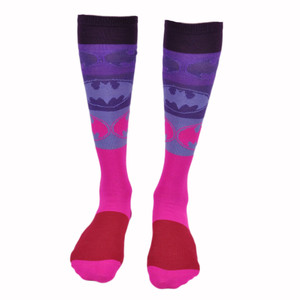 DC Comics Batgirl Official Licensed Design Costume Crew Knee High Socks One Pair