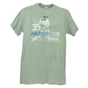 Kansas City Royals Eric Hosmer 35 Player Signature Gray Tshirt Tee Mens Baseball
