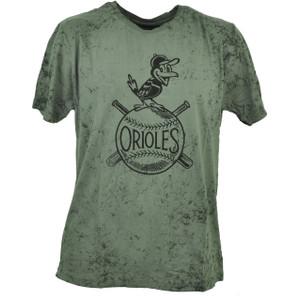 Red Jacket Baltimore Orioles Gray Distressed Tshirt Tee Medium Mens Baseball