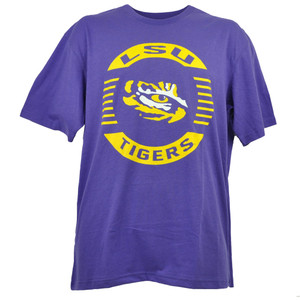 NCAA Colosseum Louisiana State Tigers LSU Mens Tshirt Tee Short Sleeve Purple