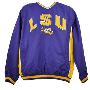 NCAA Louisiana State Geaux Tigers LSU Mens Windbreaker Pullover Sweater Purple