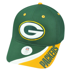 NFL Green Bay Packers Teton Velcro Football Hat Cap Adjustable Curved Bill