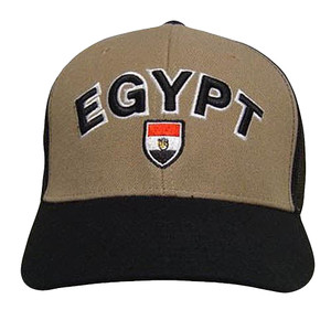 EGYPT BROWN BLACK BASEBALL CAP HAT TRUCKER MESH ADJ NEW