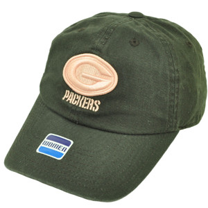 Green Bay Packers Womens Brown Relaxed Hat Cap Sun Buckle Plaid Under Visor