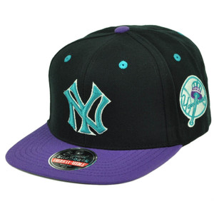 American Needle New York Yankees Blockhead Snapback Blck Purple Hat Cap Baseball
