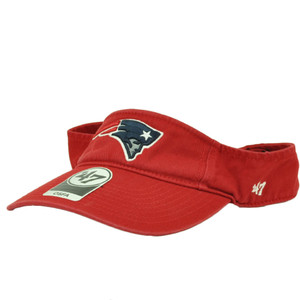 New England Patriots '47 Brand Forty Seven Red Clean Up Visor Sun Hat Adjustable