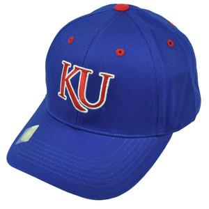NCAA Kansas Jayhawks Blue Hat Cap Adjustable KU Captivating Headgear Twill Cotton