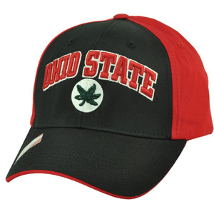 NCAA Ohio State Buckeyes Black Red Adjustable Two Tone Hat Cap Football Headgear