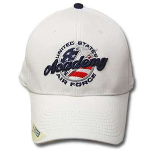 NCAA Air Force Academy Falcons The Game Mens Fitted White Hat Cap 7 3/8 AF