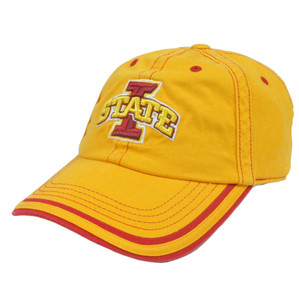 NCAA Iowa State Cyclones Slouch Adjustable Platinum Garment Wash Hat Cap Curved