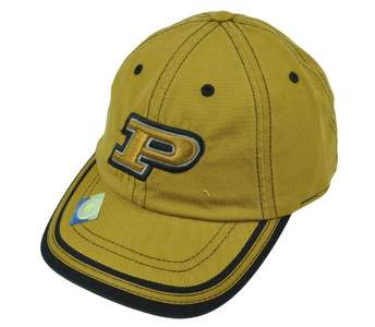 NCAA Purdue Boilermakers Mustard Hat Cap Relaxed Slouch Platinum Garment Wash