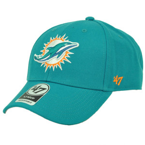 Miami Dolphins '47 Brand Forty Seven Adjustable Turquoise Hat Cap Curved Bill