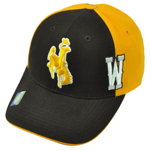 NCAA Wyoming Cowboys Two Tone Yellow Brown Hat Cap Adjustable Mens Curved Bill