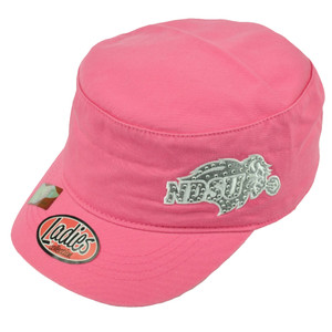 NCAA North Dakota State Bison Ladies Cute Women Cadet Hat Cap Rhinestone Pink