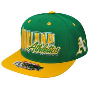MLB American Needle Oakland Athletics Fusion Angler Snapback Flat Bill Hat Cap