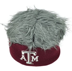 NCAA Texas A&M Aggies Sizzle Faux Fur Flair Hair Knit Beanie Gray Burgundy