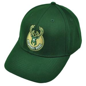 Milwaukee Bucks Basketball Green Hat Cap Adjustable XZB29 Structured Headgear