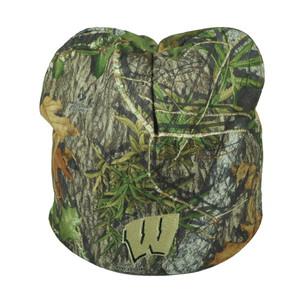 NCAA Wisconsin Badgers Camouflage Camo Cuffless Knit Beanie Mossy Oak Winter