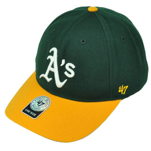 '47 Brand Forty Seven Oakland Athletics Green Yellow Green Hat Cap Adjustable