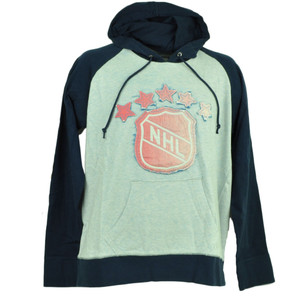 Red Jacket Hockey Hoodie Pullover Sweater Mens Navy Blue Winter Distressed