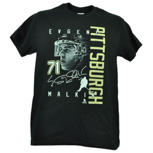 Pittsburgh Penguins Evgeni Malkin 71 Player Signature Tshirt Tee Mens Black