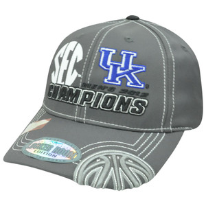 NCAA Kentucky Wildcats 2012 Champions Top of the World Velcro Constructed Hat
