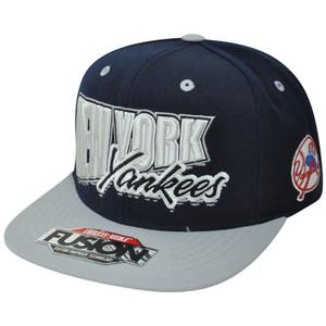 MLB American Needle New York NY Yankees Fusion Angler Snapback Flat Bill Hat Cap