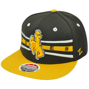 Zephyr Front Runner NCAA Wyoming Cowboys UW Flat Bill Snapback Hat Cap Cowgirls
