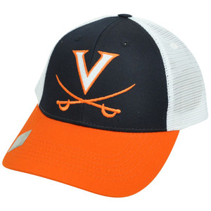 NCAA Mesh Twill Snapback Two Tone Curved Adjustable Hat Cap Virginia Cavaliers