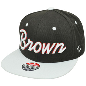 NCAA Brown University Bears Headliner Snapback Flat Bill Zephyr Script Hat Cap