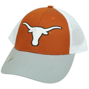 NCAA Mesh Twill Snapback Two Tone Curved Bill Adjustable Hat Cap Texas Longhorns