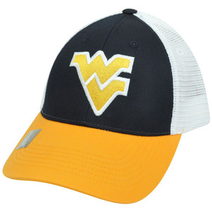 NCAA Mesh Twill Snapback Two Tone Adjustable Hat Cap West Virginia Mountaineers